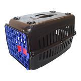 Caixa de transporte para Gatos n1 Porta Azul - Rb pet