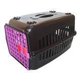 Caixa de transporte para Gatos n1 Porta Rosa - Rb pet