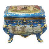 Caixa em Porcelana Clássica Estilo Limoges Filetes em Ouro - Not defined