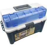Caixa Maleta Pesca Brasil Box 007 com 3 Estojos - Azul