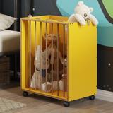 Caixa Organizadora Cordel Sisal com Rodízios - Amarelo - Be mobiliário