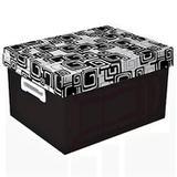 Caixa Organizadora The Best Box G Abstrato  Preto - Polibras