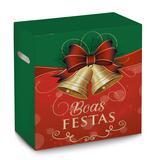Caixa Para Cesta De Natal Boas Festasas 30x19x38 Com 1 Peça - Cromus