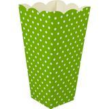 Caixa Pipoca -8 Unid - Verde pistache e branco - Alcalima festa