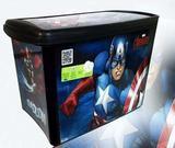 Caixa Plastica 46 Litros Avengers Plasutil