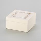 Caixa Quadrada Laqueado Conchas - Lyor classic