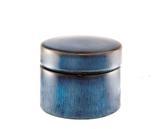 Caixa Redonda em Cerâmica Azul - Mart