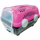 Caixa Transporte Luxo Nº 2 Cães e Gatos Pet Rosa - Furacão pet
