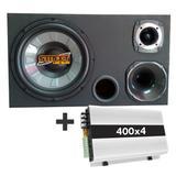 Caixa Trio Amplificada Dutada 490w Rms Driver + Tl1500 - Multi marcas