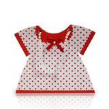 Caixa Vestido Poá Branco e Vermelho 10 unidades - Festabox