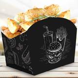 Caixinha Embalagem Batata-frita E Porções 100un Várias Cores - Pdv print