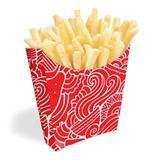 Caixinha Embalagem Para Batata Frita Salgados Vermelho 1000u - Pdv print