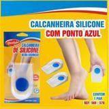 Calcanheira de Silicone - Ponta Azul - Adesiva - Transparente - Anti Impacto - Qualype