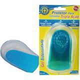 Calcanheira Tripla Ação com Gel Protetor para Calcanhar Orthopauher Azul