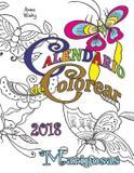 Calendario de Colorear 2018 Mariposas - Gumdrop press