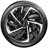 Calota aro 13 Elitte para Celta Gol Palio Uno. Mod. Universal Preta Prata linha Nitro  -  E3804 - Elitte calotas