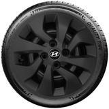 Calota Preto Fosca Aro 14 Hyundai  Novo Hb20 Hb20s Preto Fosco G373Pf - Grid calotas