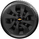 Calota Preto Fosca Mod. Original Aro 14 Chevrolet Novo Prisma Onix Preto Fosco Santo Andre - Abc - Sp G373Pf - Grid calotas