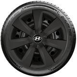 Calota Preto Fosco Mod. Original Aro 14 Hyundai  Novo Hb20 Hb20s G461Pf