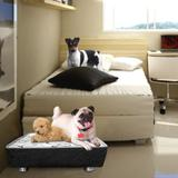 Cama Box Macia Impermeável Para Cachorros E Gatos Casa Dona de Luxo e de Fácil Lavagem