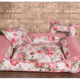 Cama Pet Grande Deccoralle - Floral Rosê - Comfort pet