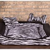 Cama Pet Grande Deccoralle - Zebra Preta - Comfort pet