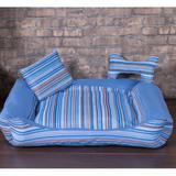 Cama Pet Pequena Deccoralle - Azul Listras - Comfort pet