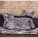 Cama Pet Pequena Deccoralle - Zebra Preta - Comfort pet