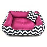 Cama Pet Sophie Decora para cães e gatos/ chevron /pink -tamanho(P)