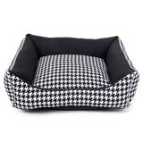 Cama Quadrada Houndstooth G - Sula Pet - Futon dog