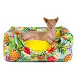 Cama Toca Pet Cachorro Gato Premium 2 em 1 - M - Tropical - Senhor bicho