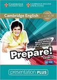 Cambridge english prepare! 3 presentation plus dvd-rom - 1st ed - Cambridge audio visual  book teacher