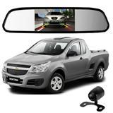 Camera De Re Espelho Retrovisor Com Tela Chevrolet Montana - Tomate