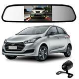 Camera De Re Espelho Retrovisor Com Tela Hyundai Hb20 - Tomate