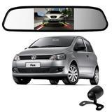 Camera De Re Espelho Retrovisor Com Tela Volkswagen Fox - Tomate