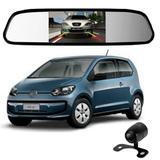 Camera De Re Espelho Retrovisor Com Tela Volkswagen Up - Tomate
