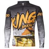 Camiseta De Pesca King Proteção Solar Uv Viking 03 - Dourado - King brasil