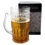 Caneca Chop 500ml I Drink E I Know Game Of Thrones Zona Criativa