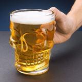 Caneca Chopp Cerveja Vidro Caveira Rock - Lyor