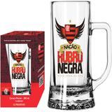 Caneca de Chopp Flamengo Nação Rubro Negra Vidro 500ml - Globimport