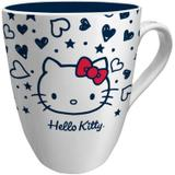Caneca de Porcelana Elegante Hello Kitty Tattoo Old School 330ml Urban Branco
