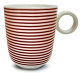 Caneca em cerâmica klein vermelha corona 294 ml yoi