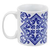 Caneca em Porcelana Indigo Blue 300ml - Portuguese - Incasa - Btc