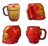 Caneca Formato 3D Homem de Ferro Iron Marvel Avengers 400ml - Zona criativa