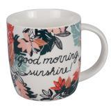 Caneca Free Life Good morning em porcelana 340ml - 23404 - Dynasty