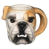 Caneca Fun Cabeca Bulldog em porcelana 550ml - 23853 - Dynasty