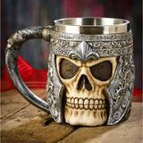 Caneca Inox Caveira Viking Choop Cerveja Festa - MXF16335 - Negocio de gênio