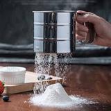 Caneca Peneira E Polvilhador Açúcar Farinha Canela Aço Inox - Good