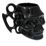 Caneca Porcelana 450ml Soco Inglês Caveira Skull 3D - Loja tip
