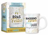 Caneca porcelana premium - boas festas 2017 - Brasfoot
